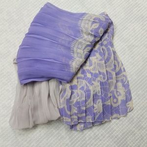 Candie's Scarf/Wrap Purple Ombre Pleated New 221
